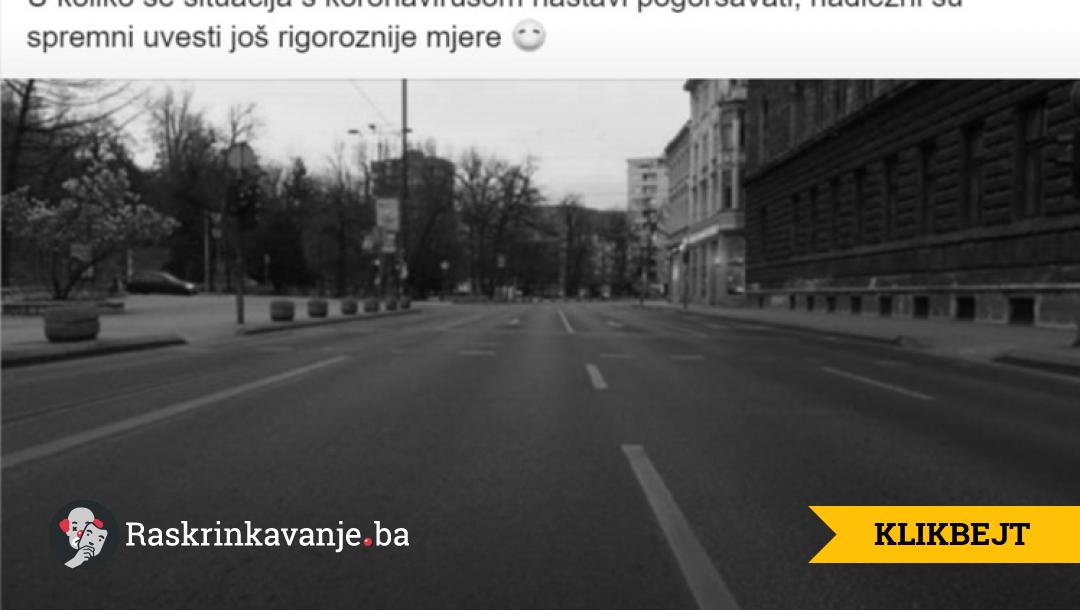 Klikbejt za društvene mreže: Sarajevo umjesto Drvara